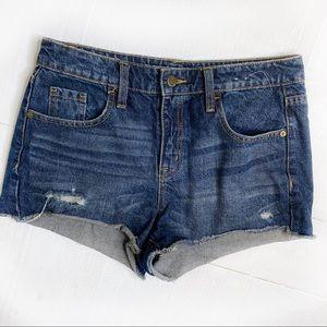Mossimo High Rise Cutoff Jean Shorts Denim